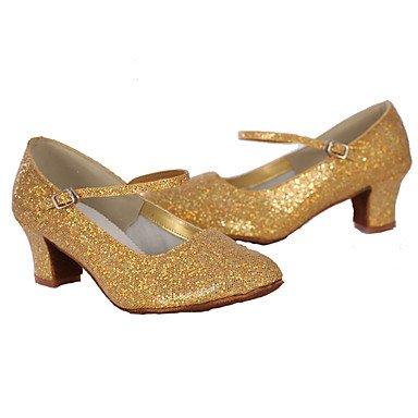 Silence @ Chaussures de danse pour femme en similicuir/paillettes en similicuir/paillettes latine Silver