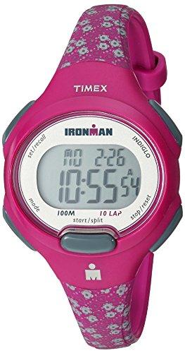 Timex Damen-Armbanduhr Armband Harz Pfirsich + Gehäuse Batterie TW5M07000 (Männer Timex Chronograph Watch)