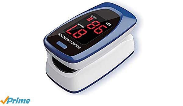 Fingertip oximeter, for SpO2 and pulse rate measure, pulse oximeter, oxygen  saturation