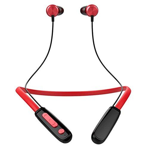 Bescita universale auricolari sport jogging magnetic cuffie bluetooth wireless stereo headset auricolari cuffie con microfono, rot