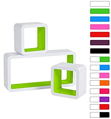 WOLTU Floating Wall Shelf Floating Shelves Storage Lounge Cube mounted Display - inexpensive UK light store.