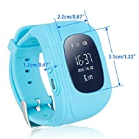Q50 Kids Smart Watch GPS LBS Double Location Safe Children Watch Activity Tracker SOS Card for Blue