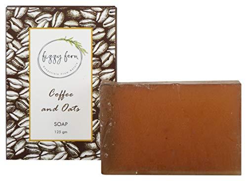 Fizzy Fern Handmade Coffee Oats Soap with Neem Aloe Vera Barley, 125 g