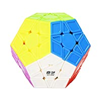 Faironly 3x3 Megaminx Speed Cube Stickerless Megaminx Dodecahedron Magic Cubes Brain Teaser Twist Puzzle Sculpted Version colorful