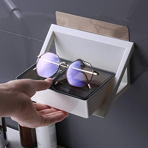 WEIUTY Handtuchhalter Regal Metall Für Rahmen Punch-Free Haushalts-Wand-Multifunktions-Brillengestell Badregal