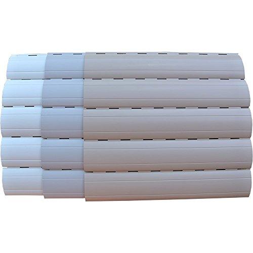 5 x 2 Meter PVC Rollladenlamelle Profil Rolladenlamelle Maxi 52mm Farbe: Grau