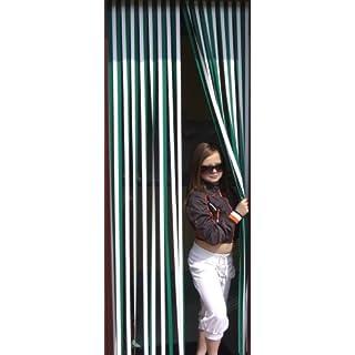 Holland Plastics Original Brand Slat type Door Curtain,Bug Blind,Fly Blind,Strip Blind-GREEN & WHITE