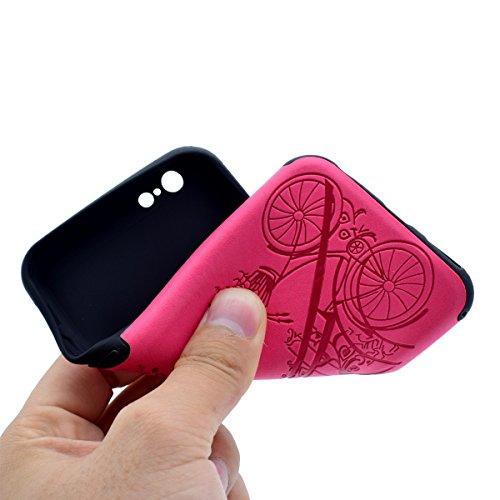 Custodia inShang cover per iPhone 7 4.7 Cellulare,super slim e leggero TPU materiale Cover posterior stili per iPhone7 4.7 inch Rose tower