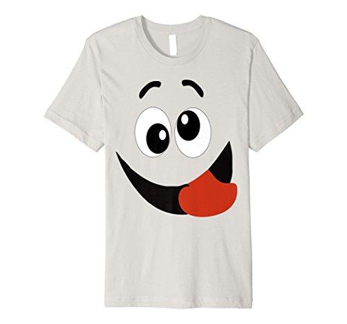 Halloween Emoji-passende Kostüm Tshirt Silly Zunge Out Fun