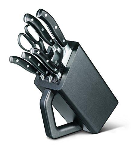 Victorinox Fully Forged Cutlery Block Set, Set of 6, Black