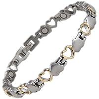 North South Titan T24, Silber und Gold mit Magnetverschluss-Armband mit Luxus-Geschenkbox mit Band, preisvergleich bei billige-tabletten.eu