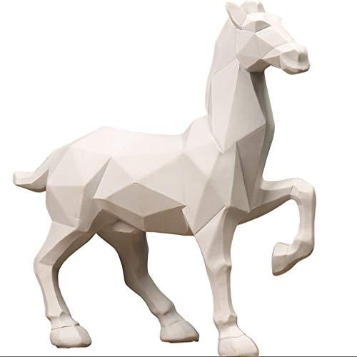 Handwerk-regal-schrank (TTW Handwerk Nordic Minimalistische Geometrische Origami Pferd Tierskulptur Dekoration Wohnzimmer TV Schrank Hotel Regal Display Produkte (Color : C))