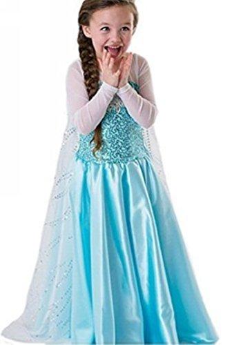 Doukia Prinzessin Karneval Verkleidung Party Cosplay Mädchen Kleid 2-blau