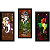 SAF 'Ganesh Religious' Painting (Synthetic, 15 inch x 18 inch, SA1000015)