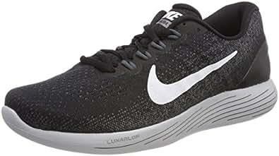 Nike Damen Wmns Lunarglide 9 Traillaufschuhe, Mehrfarbig (Black/White/Dark Grey/Wolf Grey 001), 35.5 EU