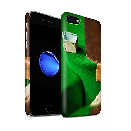 STUFF4 Matte Snap-On Hülle / Case für Apple iPhone 8 / Schwarze Kugel/Kreide Muster / Snooker Kollektion Kreide/Tasche