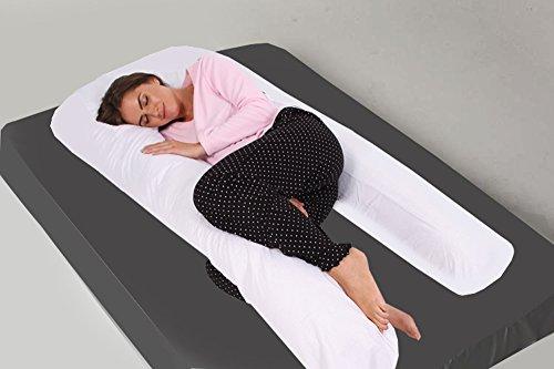 Hollowfibre Bolster Maternity Pillow Orthopedic Long Body Back /& Neck Support