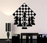 haotong11 Schachspieler Stück Schachfiguren Wandaufkleber E-co Freundliche Vinyl Schachbrett Wandtattoo DIY Selbstklebende Tapete Mural42 * 49 cm