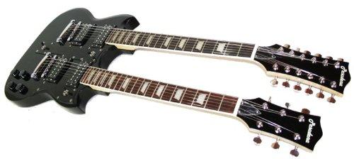 Cherrystone–4260180887792Double Neck MPM per chitarra elettrica, Nero