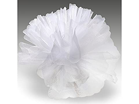 Organza Tulle Circles Crystal Pack of 50 Standard White