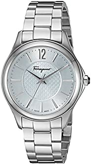 Salvatore Ferragamo Time Women's Quartz Watch With Sky Blue Dial and Stainless Steel Bracelet Ffv040016, S
