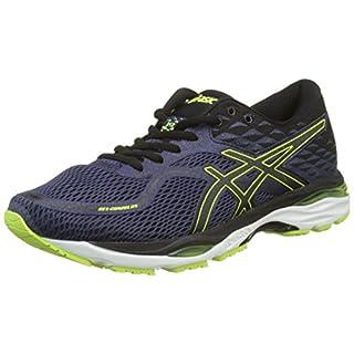 ASICS Men's's Gel-Cumulus 19 Competition Running Shoes Indigo Blue/Black/Safety Yellow 4990, 10 UK 45 EU