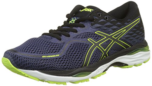 Asics Gel Cumulus 19, Zapatillas de Running para Hombre, Azul (Indigo Blue/Black/Safety Yellow 4990), 44 EU