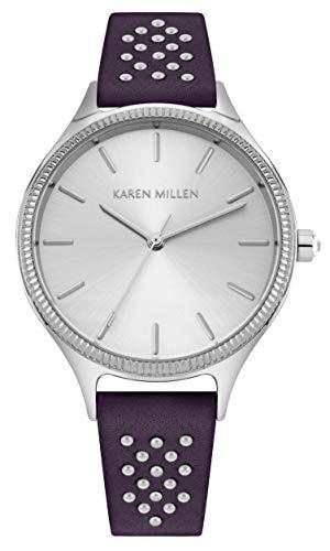 Karen Millen Unisex-Adult Analogue Classic Quartz Watch with Leather Strap KM175V