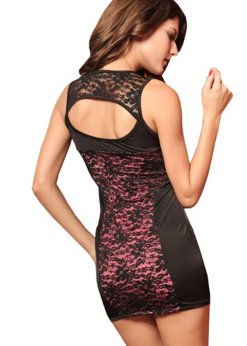 E-Girl New U-style lacet Hem Robe de soirée, robe de cocktail, Rose Rose