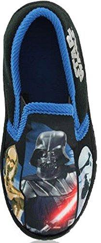 Garçon Fille Chaussures Favori Baskets Enfants Star Wars Disney Spiderman Chausson - Noir, Noir/Bleu, UK 8/EU 26 - Bambins, 26