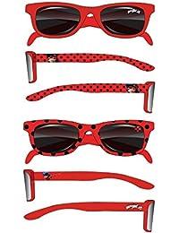 Miraculous Ladybug Lunettes de soleil enfant fille rouge de 2 à 6 ans  Protection UV400 Norme 67bf27146296