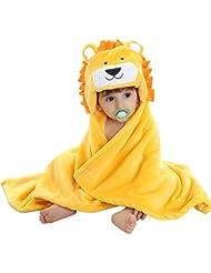 Toalla de Baño del Bebé - Feelme Bata de Estar por Casa de Polar con Capucha Animales Albornoces para Niñas Niños