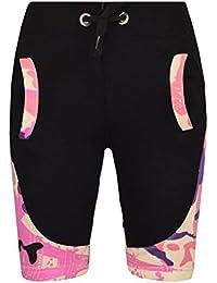 5fad6910c A2Z 4 Kids® Kids Girls Boys Shorts Designer's Camouflage Print Contrast  Panel Fleece Chino Short Casual Knee Length Half Pant 5 6 7 8 9 10…