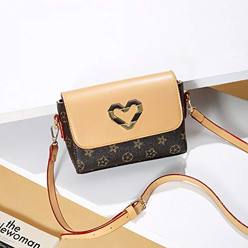 LFGCL Bags womenPrint Crossbody Handbag Fashion Student Bag Schulter kleine quadratische Tasche, gelb