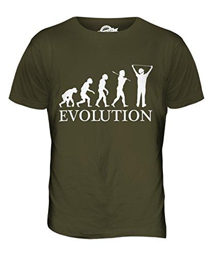CandyMix Baukalkulator Evolution Des Menschen Herren T Shirt Khaki Grün
