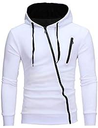 Manadlian Reißverschluss Hoodie für Herren, Männer Lange Ärmel Kapuzenpullover Schwarz Jacke Sweatshirt Oberteile Mantel Grün Grau Weiß Outwear