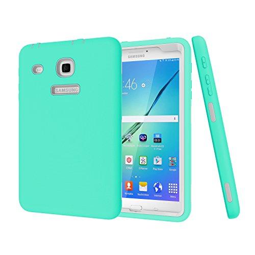 Samsung Galaxy Tab E 8.0Case, darmor [Heavy Duty] [Hybrid] PC + Silikon Hybrid Schutz DREI Schicht Armor Defender Full Body Schutzhülle für Tab E 32GB sm-t378/Tab E 8.0sm-t375/T377 4-Aqua&Gray (Star Wars Tablet Case)
