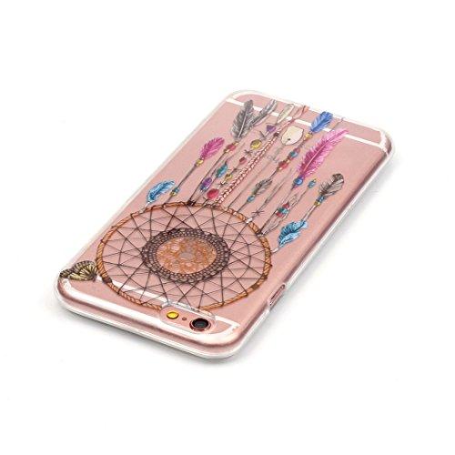 Pheant® Apple iPhone 7 (4.7 pouces) Coque TPU Gel Étui Housse de Protection Transparent Cas(Fleur de Pêche) Panda
