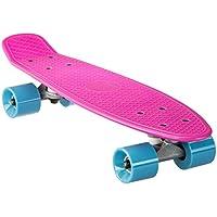 Ultrasport Mini Cruiser Board, Mini Skateboard, 80er Jahre Retro Skateboard für Kinder, Jugendliche, Erwachsene, Kinderskateboard in trendigen Farben