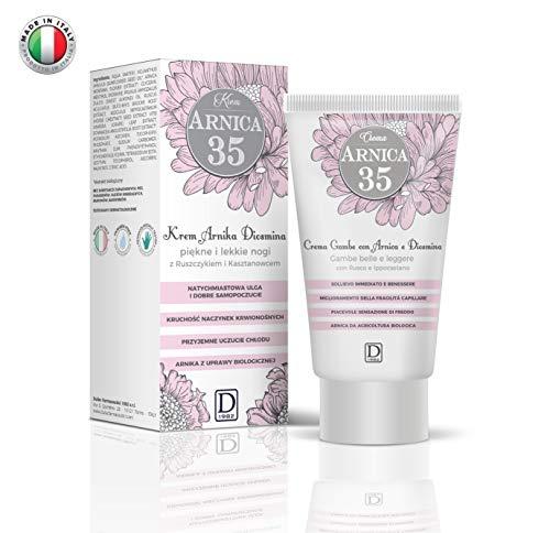 Arnica 35 - Crema Gambe - Gambe belle e leggere con Arnica, Diosmina, Rusco e Ippocastano - 150 ml