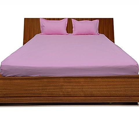 /drap-housse 100% coton égyptien 3Finition élégante massif (poche taille: 68,6cm), Coton, Pink Solid,