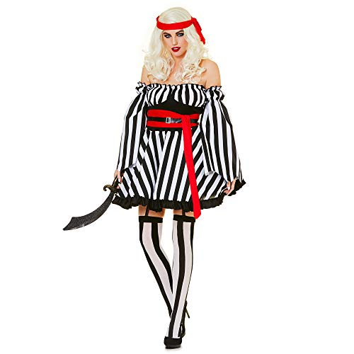 Karnival- Bonny Pirate Lady Costume Disfraz, Multicolor, small (81300)