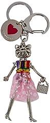Idea Regalo - Love Moschino Portachiavi Metallo Nikel - ad anello e catena Donna, Argento (Nickel Metal), 1x1x1 cm (B x H T)