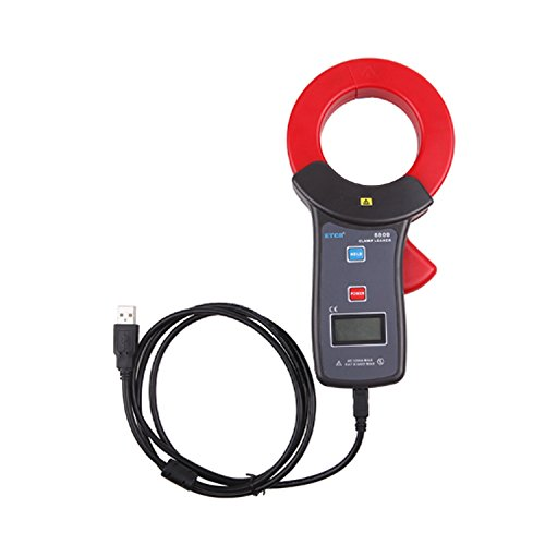 Multímetro Amperimetrica Digital, Medidor de fuga de alta precisión de 0.00mA ~ 1200A con USB ETCR6800 Clamp Meter