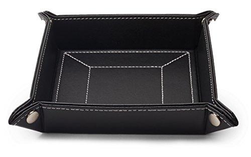 negro-de-piel-para-hombre-valet-bandeja-catchall-y-de-almacenamiento-organizador-caja-de-regalo