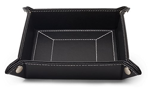 mens-black-leatherette-catchall-change-key-wallet-coin-box-tray-storage-valet-organizer-w-gift-box