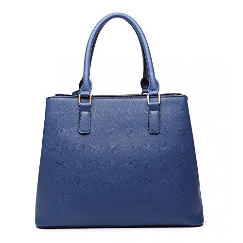 Miss Lulu, Borsa tote donna Blue