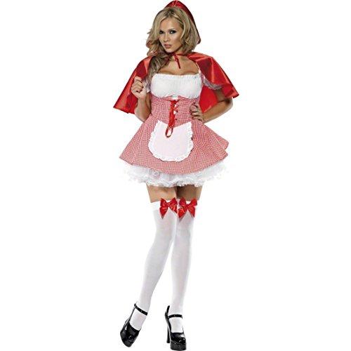 NET TOYS Costume donna da sexy Cappuccetto Rosso per travestimento Carnevale -