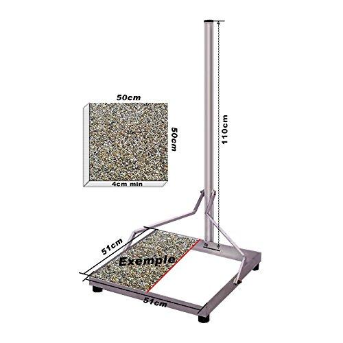 HD-LINE Sat Antennen zerlegbar BalkonStänder Flachdachständer Ständer stabil aus Stahl 1x50cm 110cm Mast