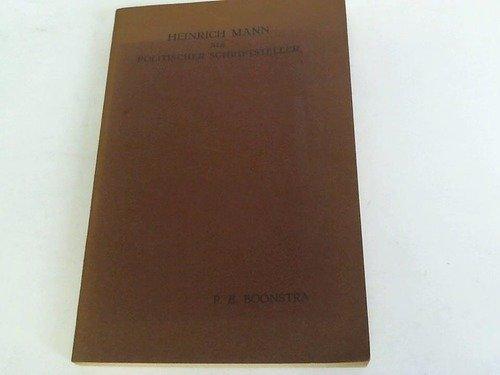 Heinrich Mann als politischer Schriftsteller